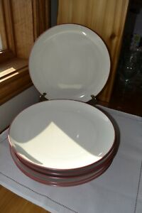 "Set of 6 Noritake Colorwave Raspberry Dinner Plates 10 3/4"" Coupe"