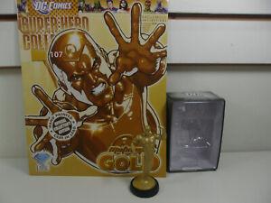 EAGLEMOSS Figure & Magazine Classic DC Super Hero Collection #107 Metal Man Gold