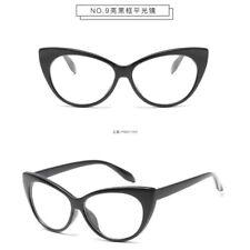 Women Sexy Clear Lens Cat Eye Glasses Frame Luxury UV Protect Sunglasses New