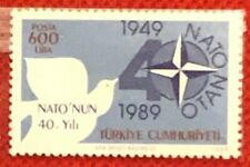 1989 Turkey 2439 MNH - Bird / Dove / NATO Anniversary