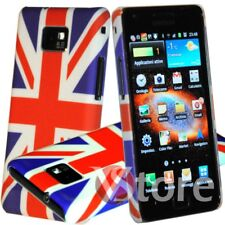 Cover Custodia Per Samsung Galaxy S2 i9100 - i9105 Plus Bandiera UK Inglese