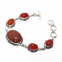 Goldstone,Carnelian Ethnic Jewelry Handmade Bracelet 23 Gms BB-658
