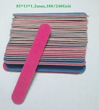 10pcs 180/240 grit Professional Nail Files Buffer Buffing Slim Crescent Grit