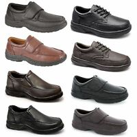 Mens Leather Shoes Dr Keller Northwest Territory Formal Work Lace Touch Fasten