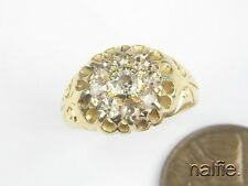 V PRETTY ANTIQUE ENGLISH 18 CARAT GOLD SPARKLING DIAMOND CLUSTER RING c1914