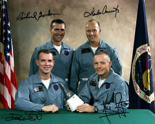 NEIL ARMSTRONG, SCOTT, CONRAD, GORDON (Gemini 8) - Repro-Autogramm 20x25cm, NASA