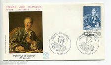FRANCE FDC 1° jour timbre 2304, Diderot, 17.3.84