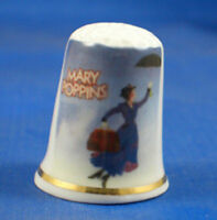 FINE PORCELAIN CHINA THIMBLE -  MARY POPPINS -- FREE GIFT BOX