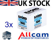 3 Pack: Ilford Delta 100 35mm 36 Exposure ISO 100 Black & White Negative Film