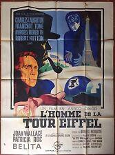Affiche L'HOMME DE LA TOUR EIFFEL Man on the Eiffel Tower LAUGHTON 120x160cm *