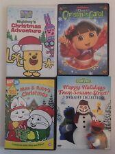 6 Family kid DVD lot CHRISTMAS Dora The Explorer Wubbzy Max & Ruby Sesame Street