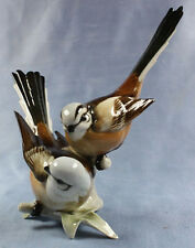 Fliegenschnäper paar  Vogel porzellanfigur porzellan figur Hutschenreuther rar