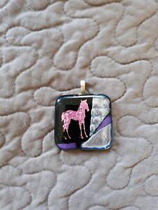 Glass Jewelry Horse pendant