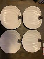 Pottery Barn Barbara Eigen Design Pumpkin Plates Set of 4 FALL/THANKSGIVING
