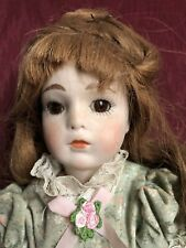 11� Bru Reproduction- All Bisque -1977- Glass Eyes- Human Hair Wig - Cute