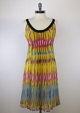 TORY BURCH - Size 10 - Tribal Print Crinkle Silk Chiffon Halter Empire Dress