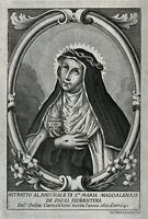 Holy Card of St. Mary Magdalene de' Pazzi & a Brown Scapular and Info. Pamphlet