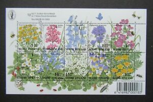 1993 SHEET SUOMI FINLAND FLOWERS FLORA 10X 1 LUOKKA KLASS VF MNH B314.27 ST$0.99