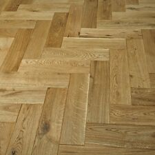 Luxury Parquet Natural Oak Solid Wood Flooring Brushed & Oil 20mm Thick - 130mm