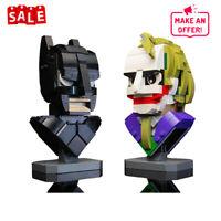 Dark Knight Bust Collection + Joker MOC-22597 Building Blocks Set Bricks Toys