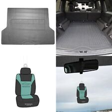 Gray Trunk Cargo Liner Mat All Weather Protection for Car SUV Van w/ Free Gift