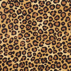 Leopard Spots Animal Skin Print 100% Cotton Poplin Fabric by Rose & Hubble Beige