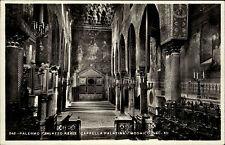 PALERMO Cartolina <1945 Italia Cappella Palatina Kirche Church Vintage Postcard