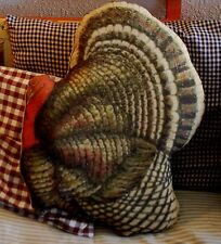 Thanksgiving Fall Turkey Vintage Turkey Pillow Dinner decoration porch bench