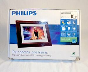 """USED PHILIPS LED 10.1"""" Electronic Picture Frame Brown SPF3402S/G7"""
