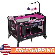 Baby Girl Nursery Center Playard Playpen Infant Sleeper Cradle Bassinet Nap New