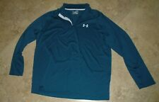 New listing Blue Under Armour Heat Gear Zip Neck Loose Fit Long Sleeve Men's XL Extra Large