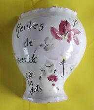 ANCIEN POT TERRE CUITE POUR HERBES DE PROVENCE,LA FONTT DES HORTS