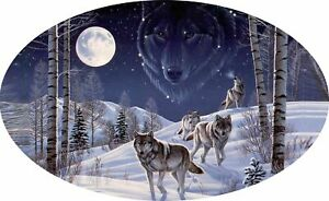 Motor home Caravan Camper Horse box Wolves Wolf Stickers Decal Graphic mh1-163