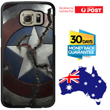 Galaxy Note 8 S8 S7 S6 Edge Plus Rubber Case Captain America Shield For Samsung