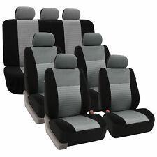 3 Row Seat cover Full Set for Auto SUV Gray Black For Car Sedan SUV Van Bench