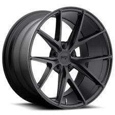 Staggered Niche M117 Misano 20x9,20x10.5 5x114.3 +25mm Matte Black Wheels Rims