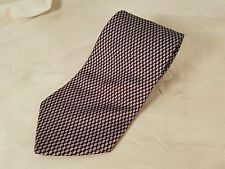 Men's Brooks Brothers Makers Blue/Brown Squares All Silk Classic Neck Tie 57x3.5