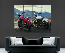 INDIAN SCOUT POSTER CLASSIC MOTORBIKES MOUNTAINS PRINT ART WALL LARGE IMAGE