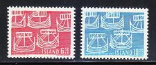 Iceland 1969 MNH Mi 426-427 Sc 404-405 Five Ancient Ships