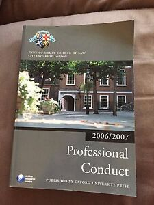 """""""PROFESSIONAL CONDUCT 2006/2007"""" LEGAL LAW THICK HEAVY PAPERBACK BOOK (XX)"""