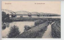 (112679) AK Graudenz, Grudzi?dz, Weichselbrücke, Feldpost 1914