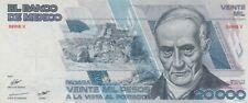 Mexico: 20,000 Pesos Quintana Roo Jul 19, 1985 Banco de Mexico.