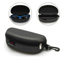 Portable Black Eye Glasses Sunglasses Clam Shell Hard Case Protector Box Zipper