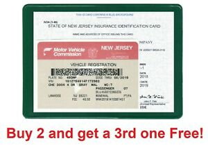 Auto car Insurance Registration ID Card Holders Holder Green