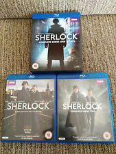 SHERLOCK COMPLETE SEASONS 1 & 2 - 4 BLU-RAY + EXTRAS ENGLISH BBC CUMBERBATCH