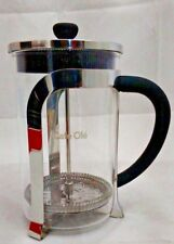 Grunwerg Cafe ole Mode 8 cup/1 L Chrome Plated Glass Coffee Cafetiere KM-010C
