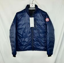New Canada Goose Lodge Packable Down Fill Jacket Puffer Blue Men's L Large