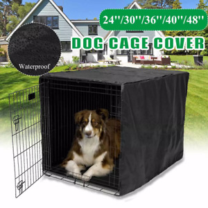 "Dog Kennel House Cover Waterproof Dust-proof Pet Kennel House Tent Case 36"" 48"""