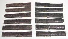 1 Dozen Black-Brown Lizard Grain Genuine Leather New Watch Bands-Free Ship!