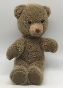 Steiff Teddy Bear Sitting 20 cm Silver Button Tag  With Glass Eyes.